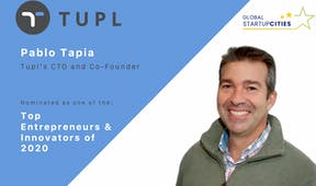 Pablo Tapia is nominated as Top Entrepreneurs & Innovators 2020 of the European innovation Area initiative
