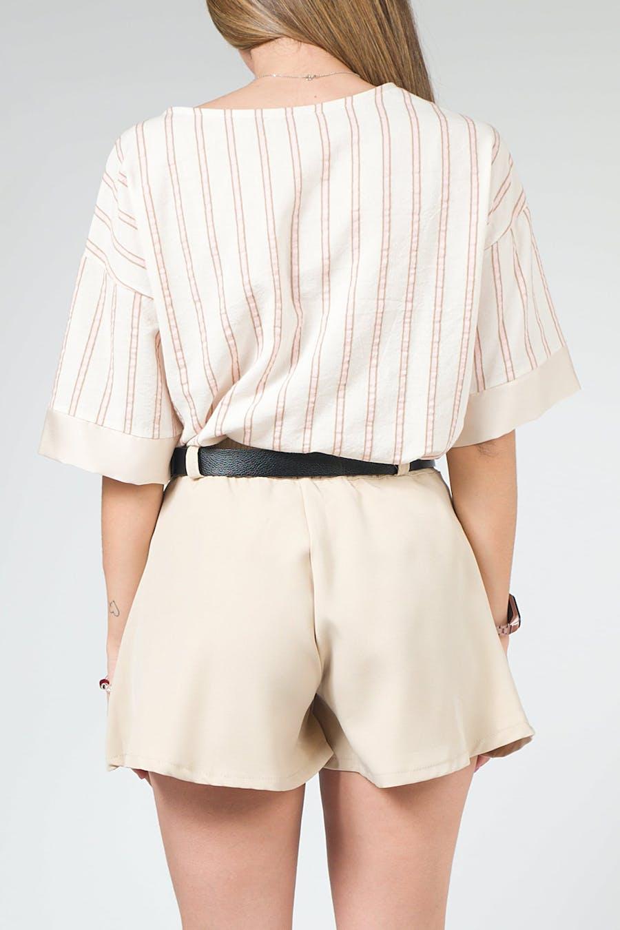 Camisa tejido combinado