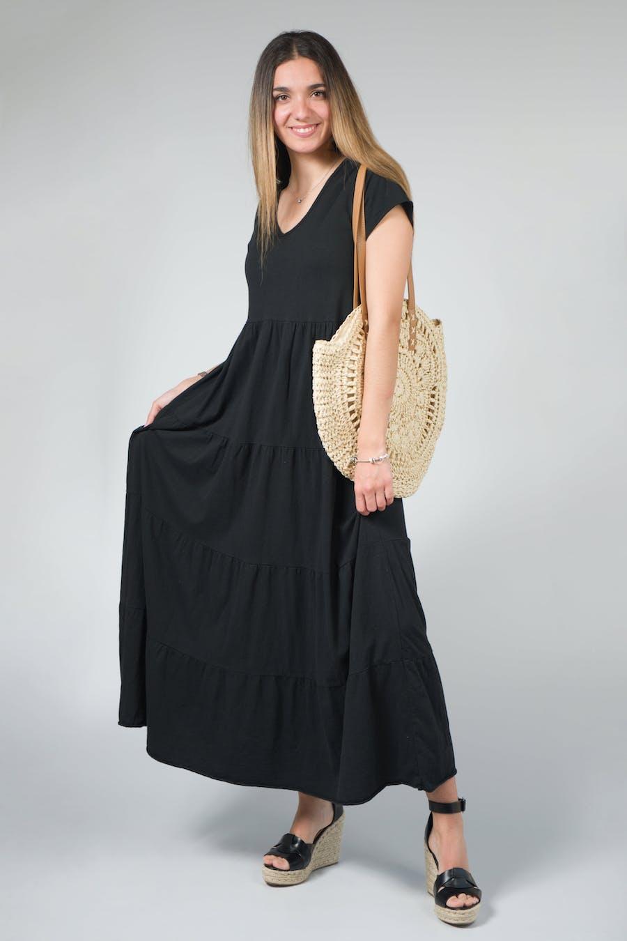 Vestido largo capas