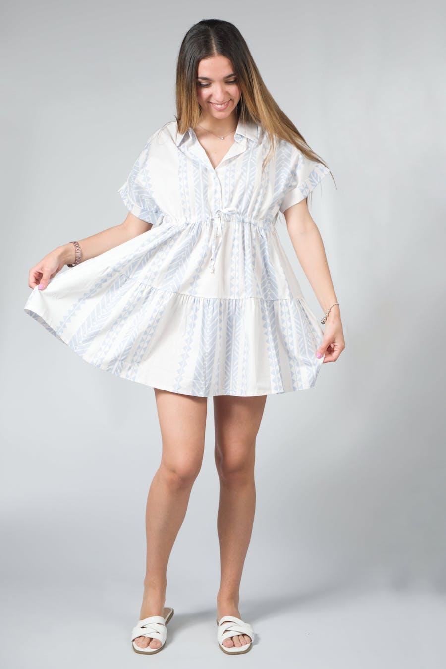Vestido popelín estampado