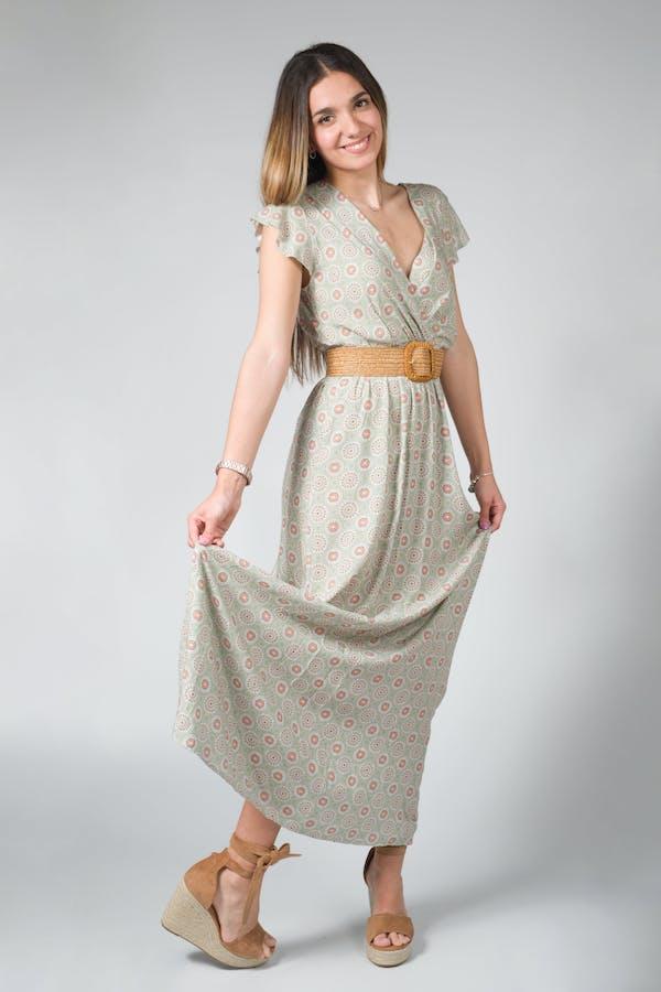 Vestido largo fino
