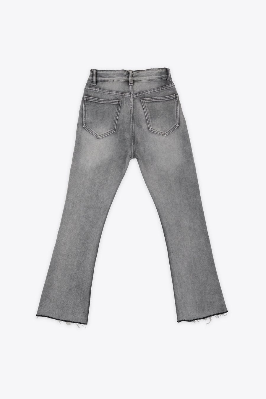 Jeans gris flare