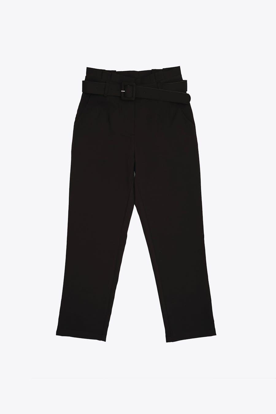 Pantalón negro con cinturilla paperbag