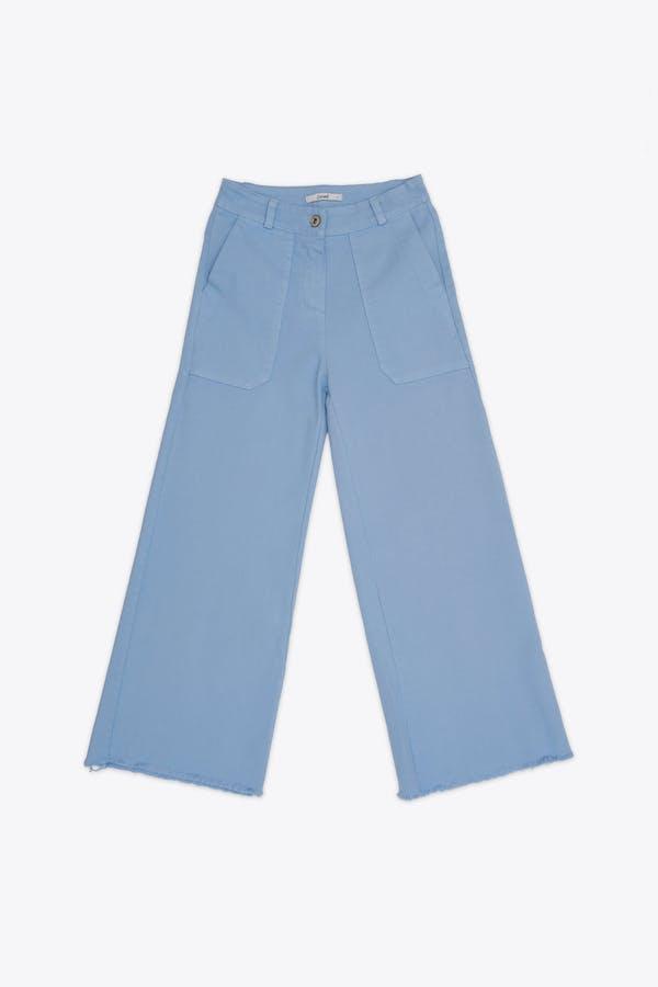 Pantalón cassual efecto lavado azul