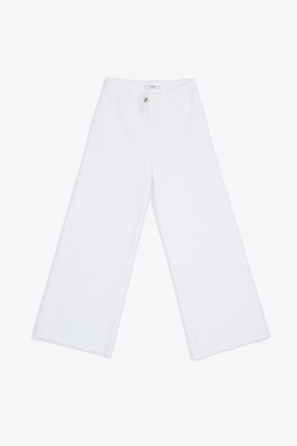 Pantalón cassual efecto lavado blanco
