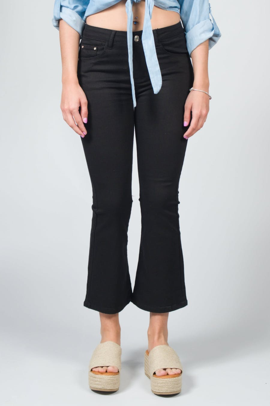 Jeans flare negro