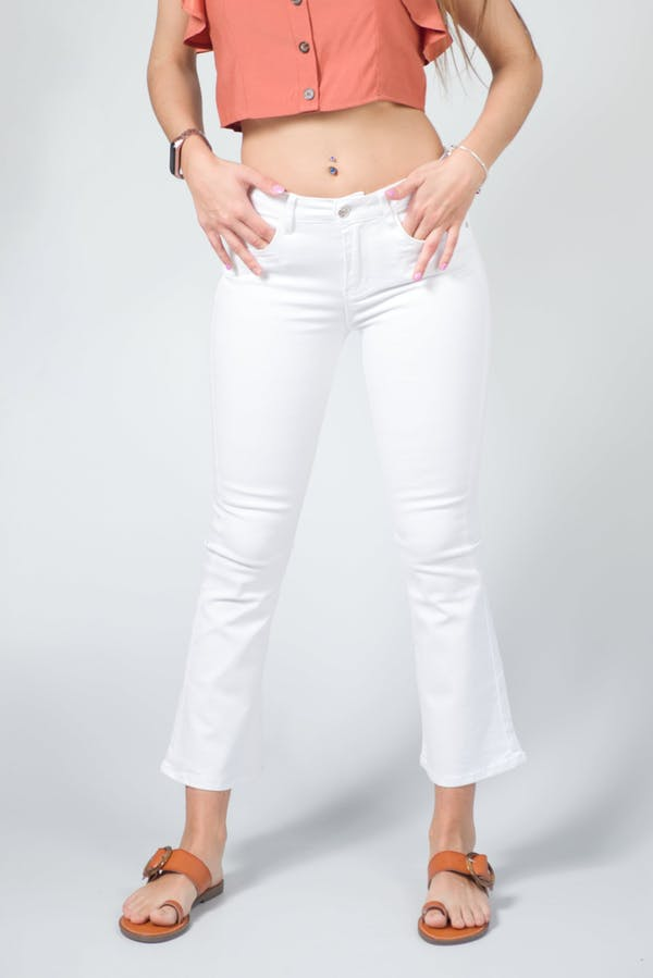 Jeans flare blanco