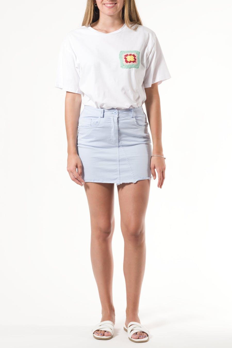 Falda sarga mini