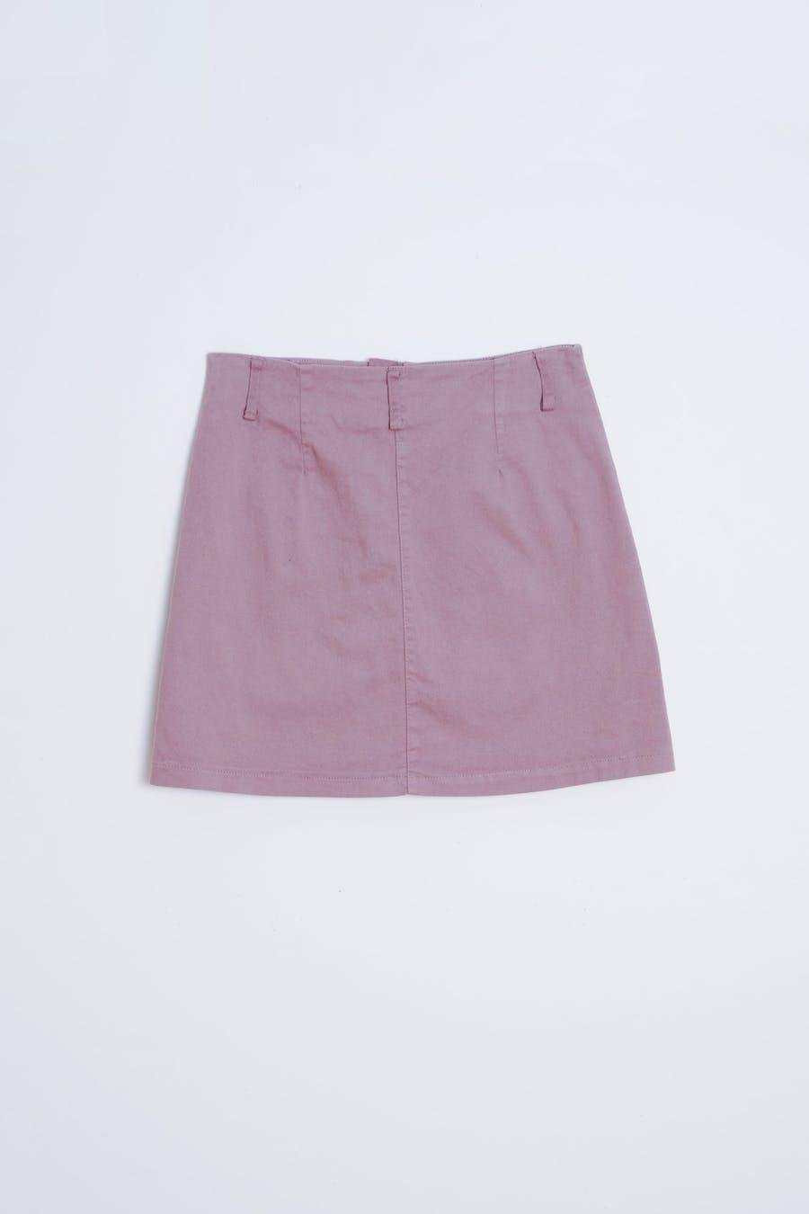 Falda sarga bolsillo Púrpura