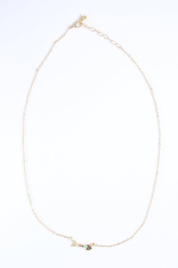 Collar flecha circonitas