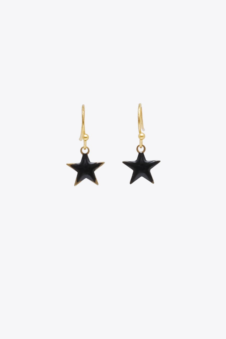 Pendiente estrella negra esmaltada
