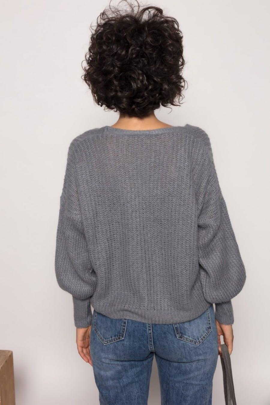 Chaqueta Cassual con lana Gris