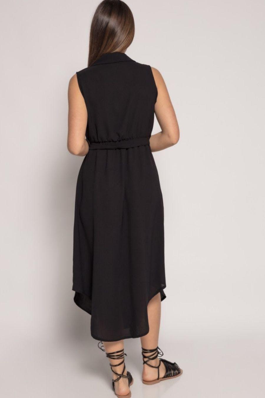Vestido abertura negro