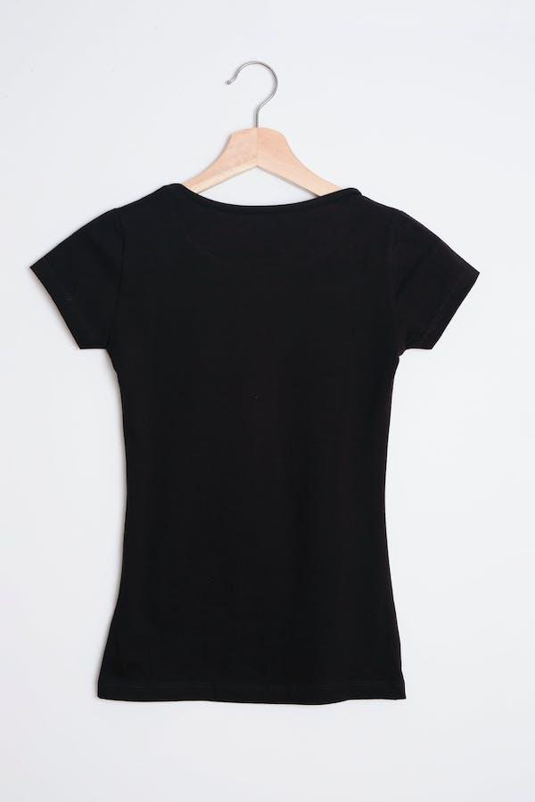 Camiseta algodón básica negra