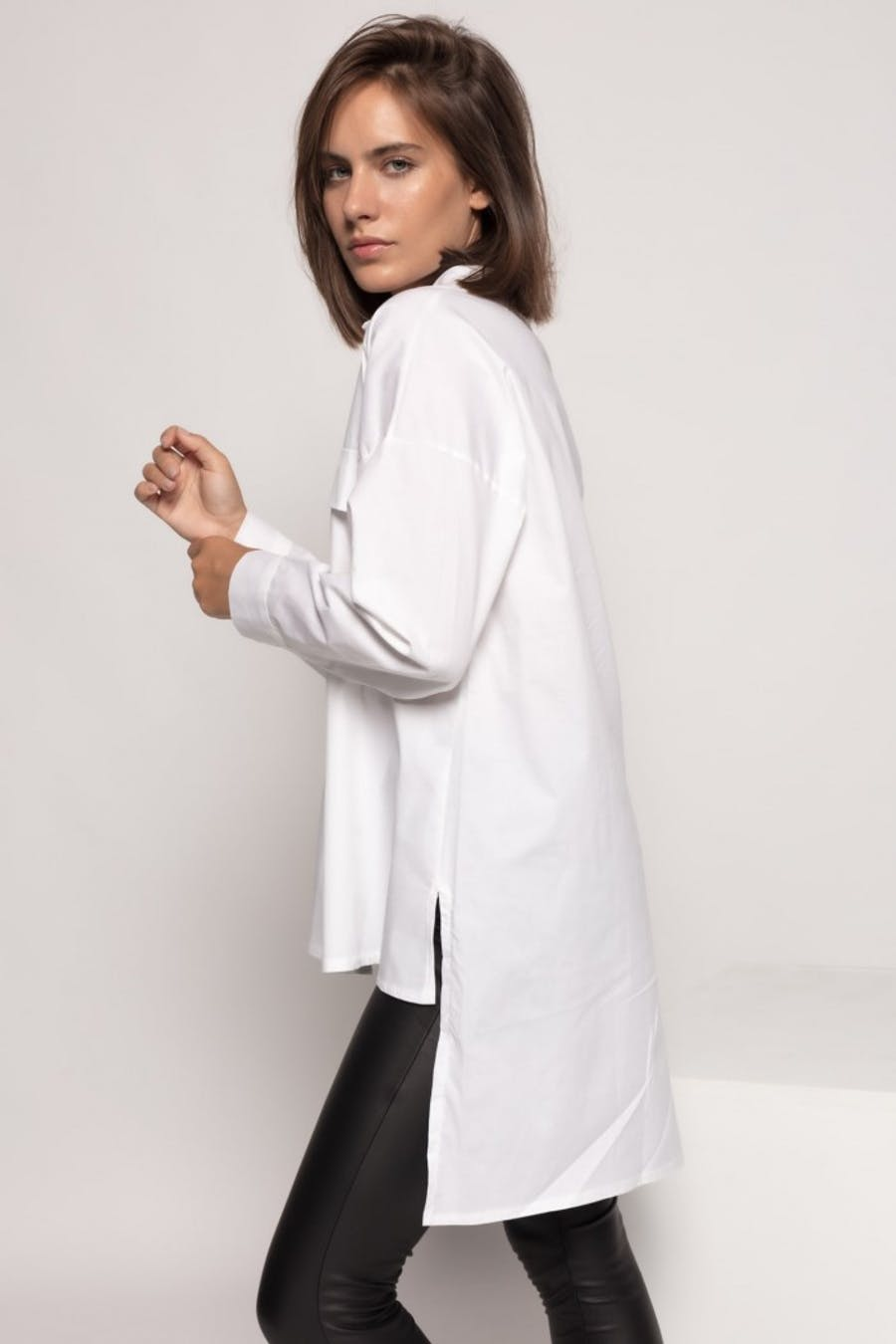 Camisa Cassual popelín bolsillos Blanco