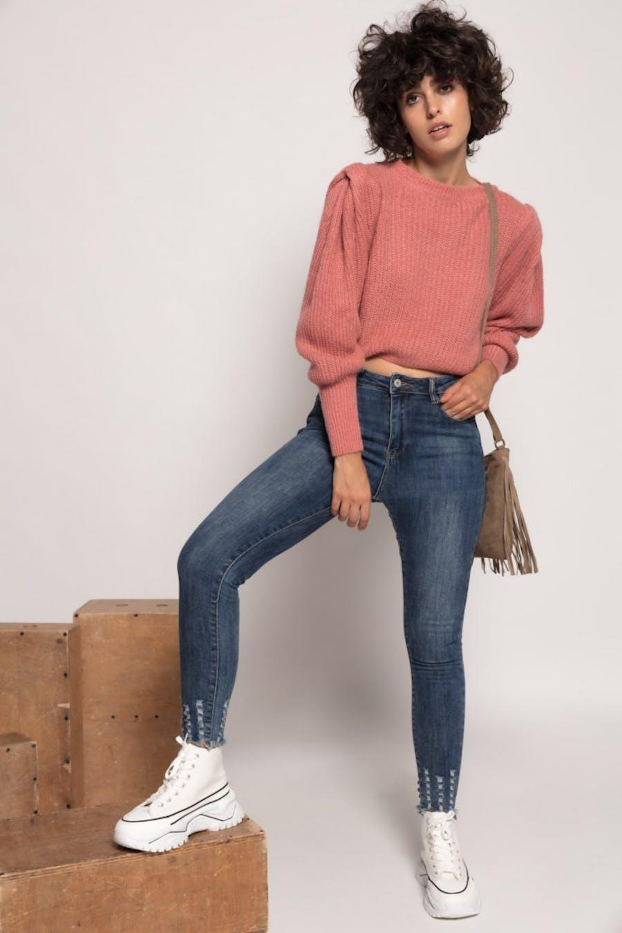 Jersey Cassual con lana Rosa