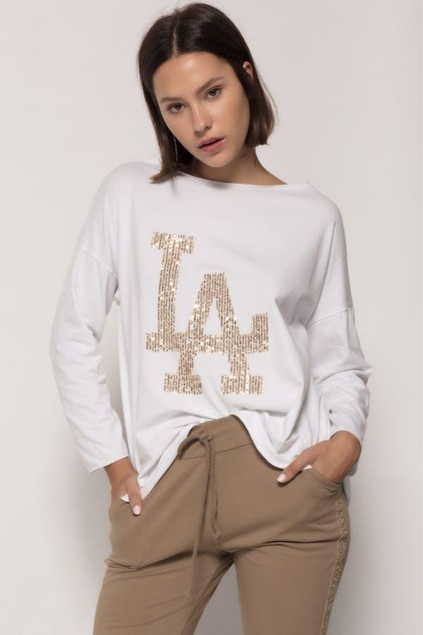 Camiseta massima grazia algodón Blanco