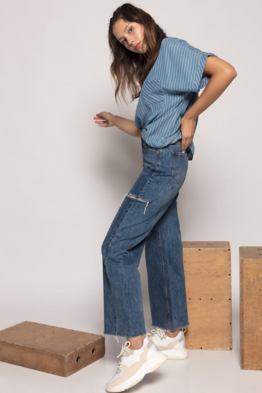 Jeans laulia jupe culotte
