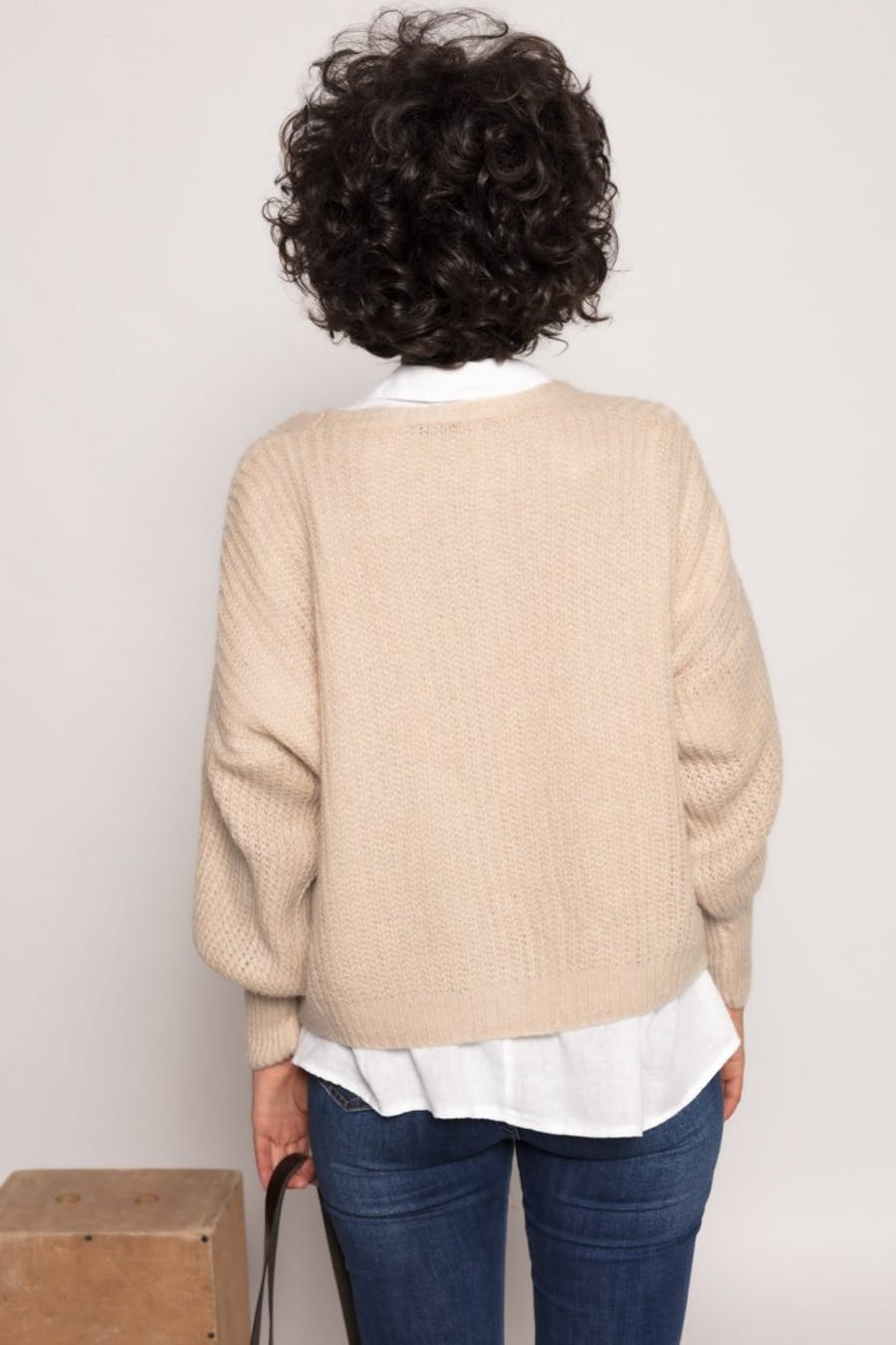 Chaqueta Cassual con lana Beige