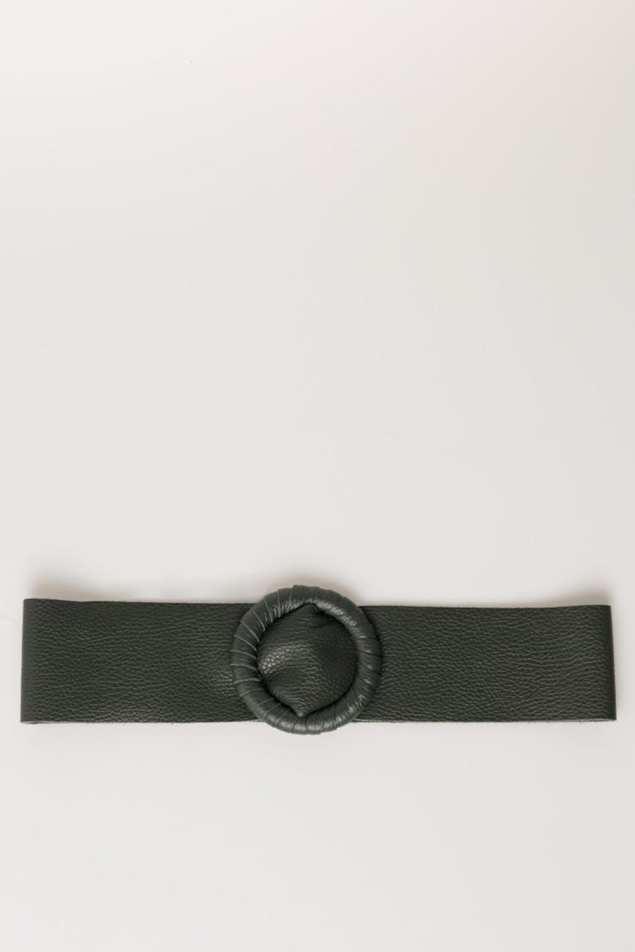 Cinturón massima grazia piel Verde