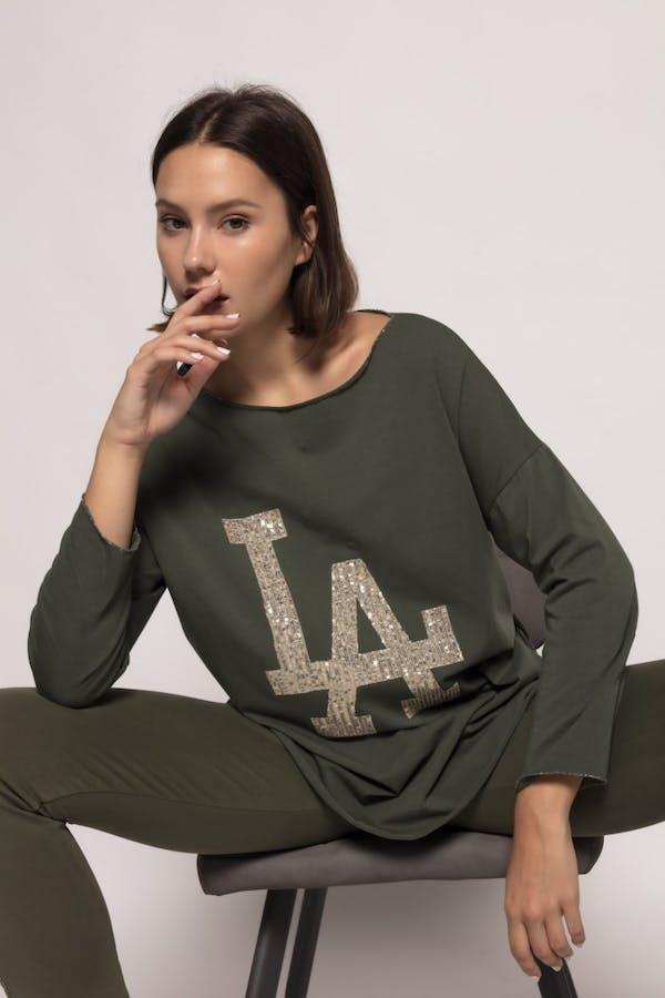 Camiseta massima grazia algodón Verde