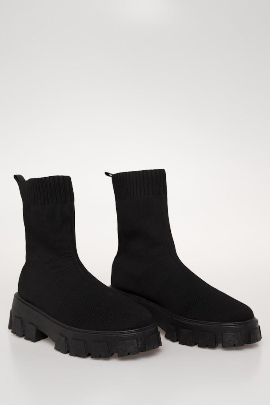 Botín h&d calcetín Negro