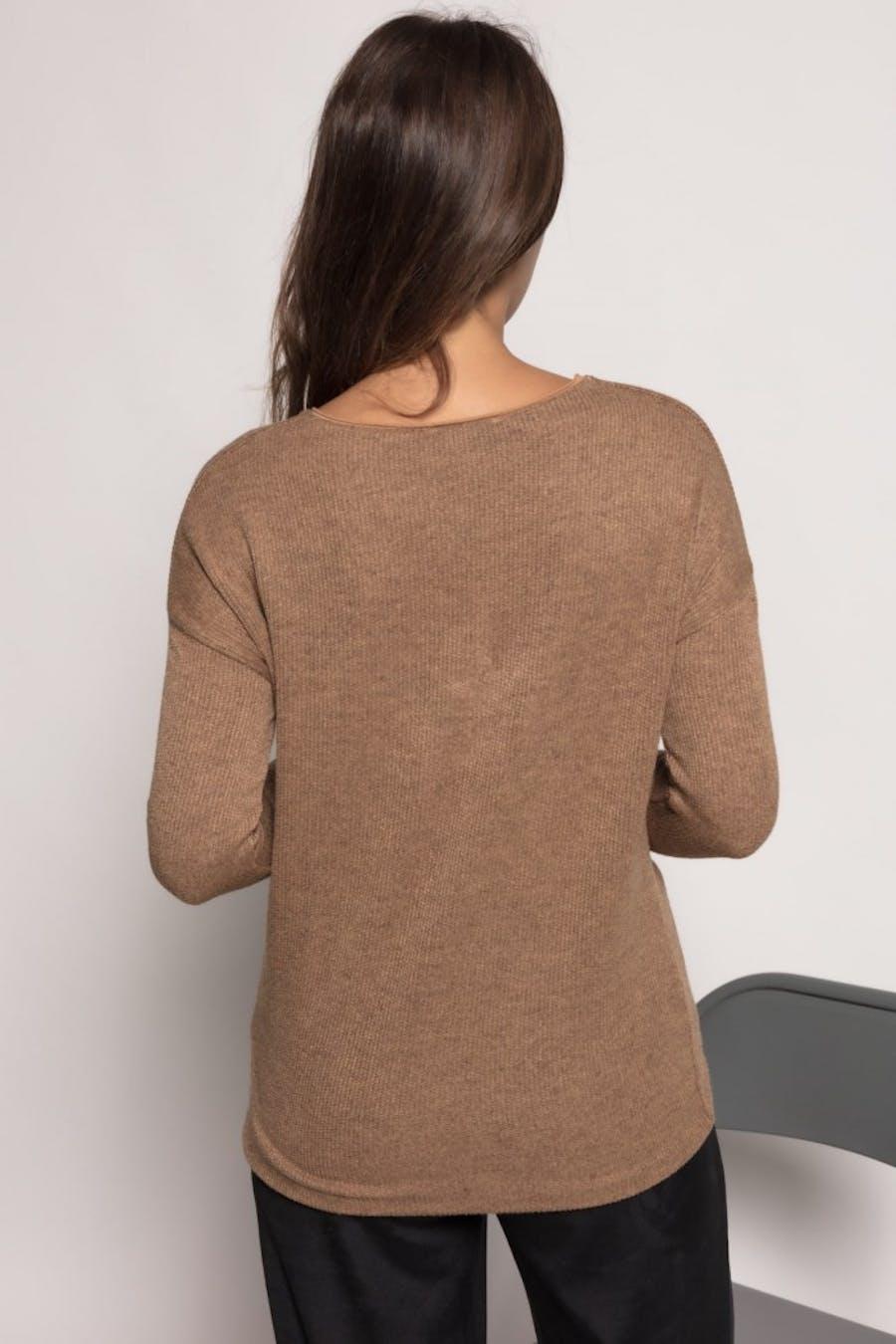 Camiseta massima grazia textura Camel