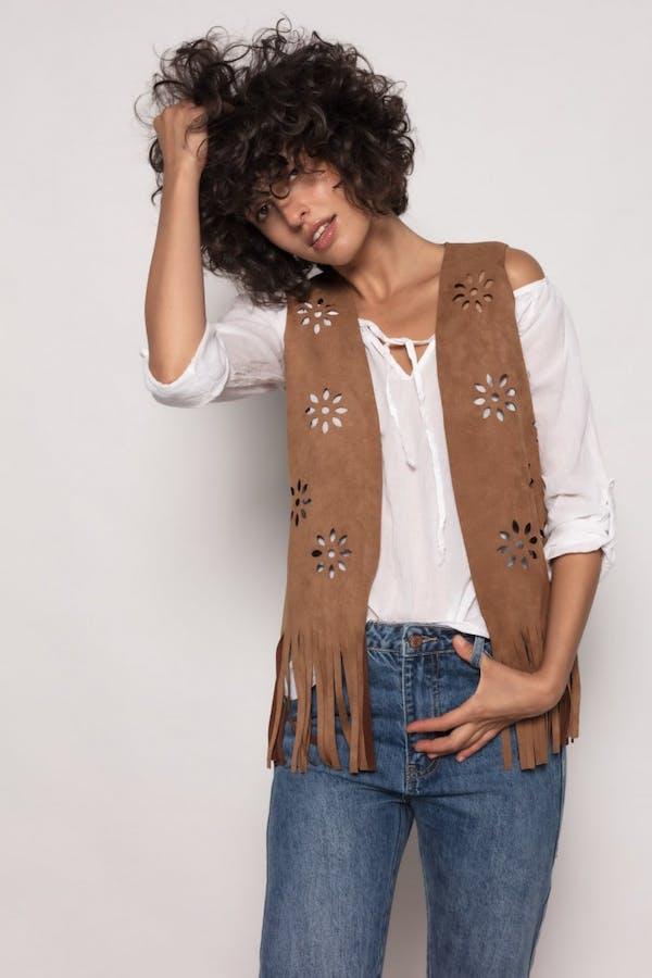 Conjunto massima grazia chaleco y camisa