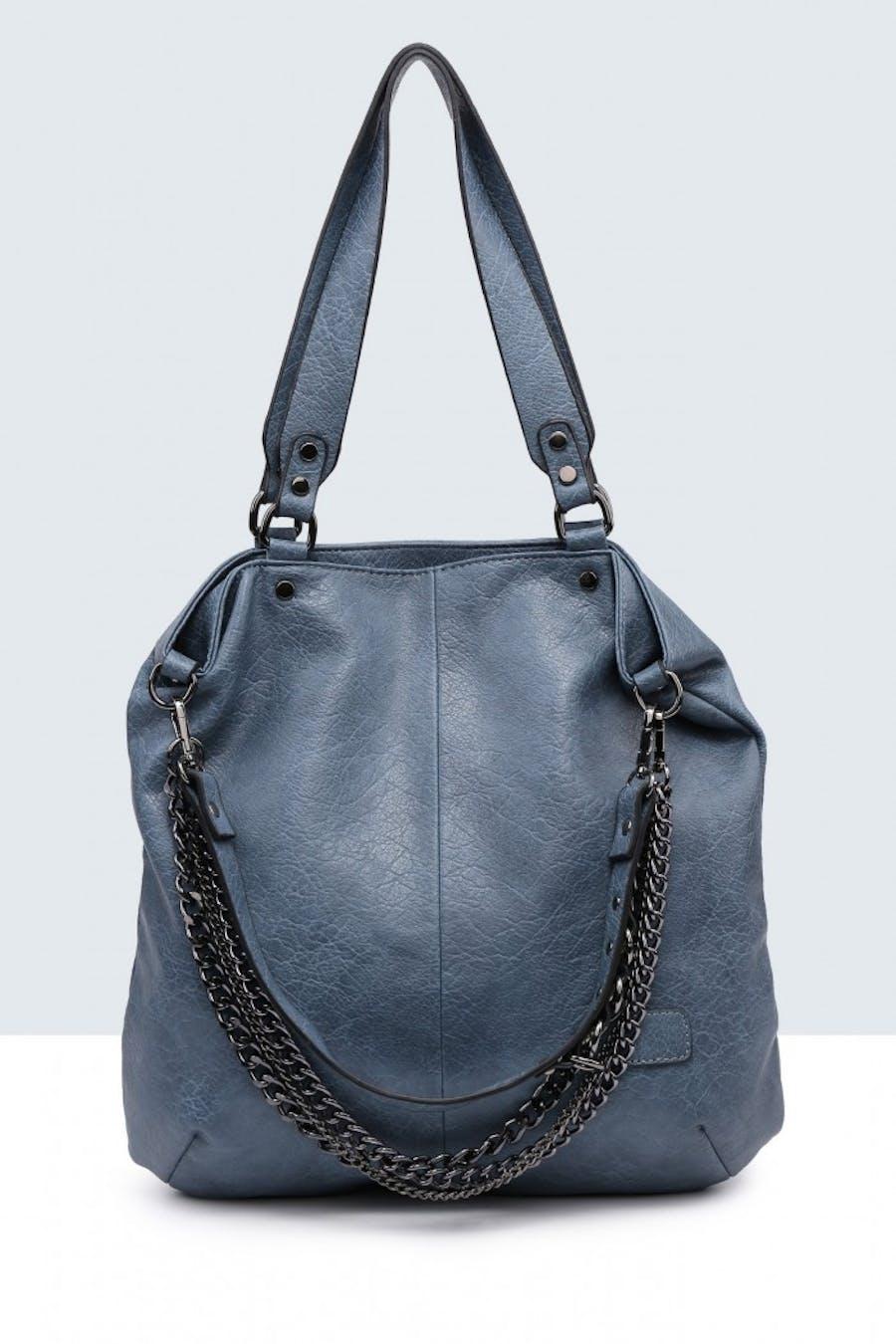 Bolso valentina shopper cadenas Azul