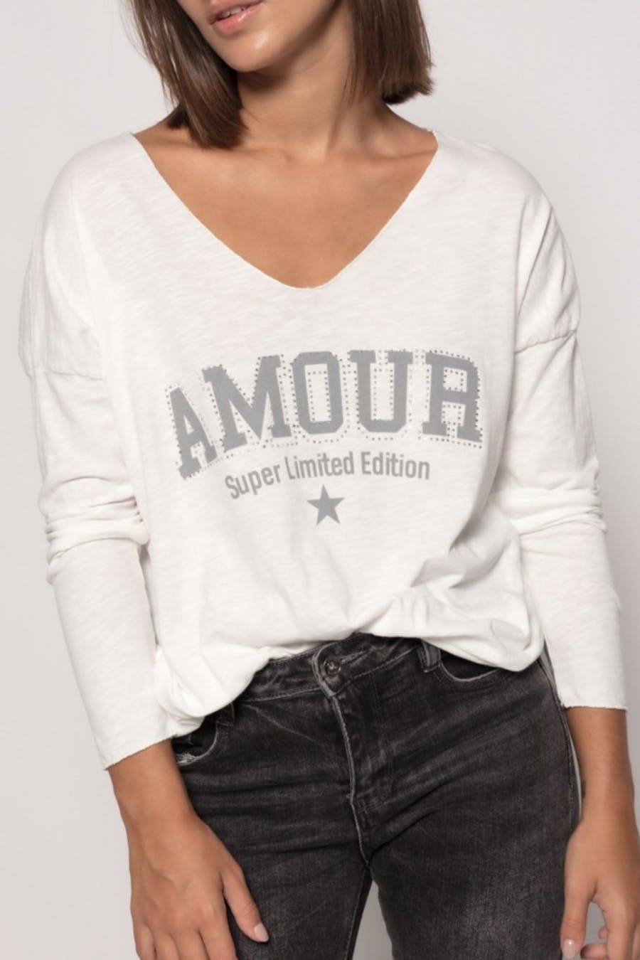 Camiseta massima grazia texto Blanco