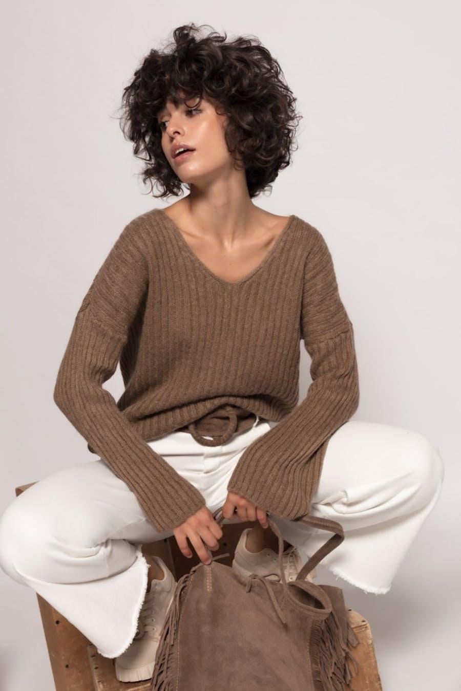 Jersey Cassual con lana Camel