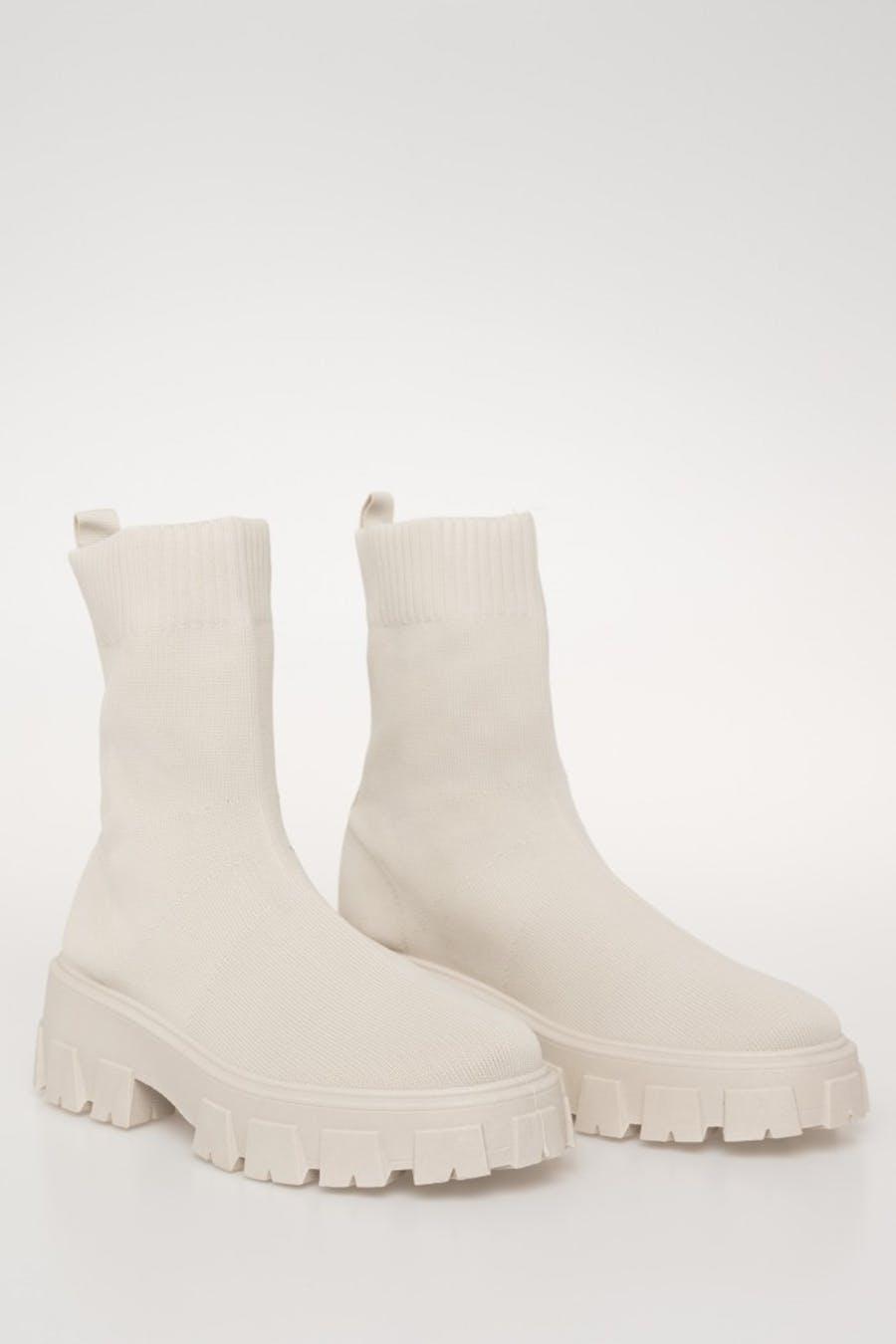 Botín h&d calcetín Beige