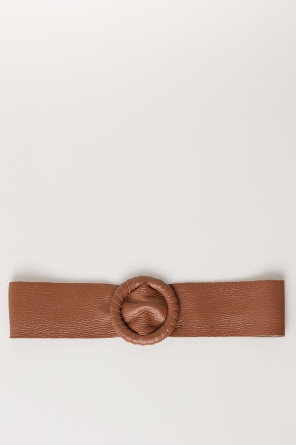 Cinturón massima grazia piel Camel