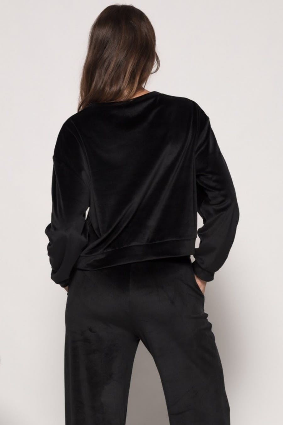 Sudadera Cassual textura Negro