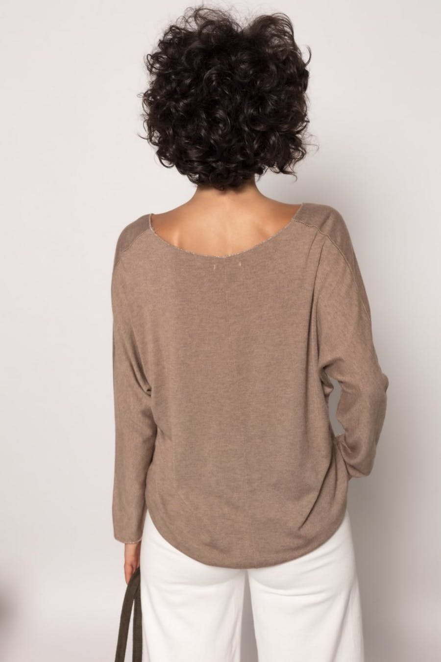 Camiseta massima grazia punto fino Marron
