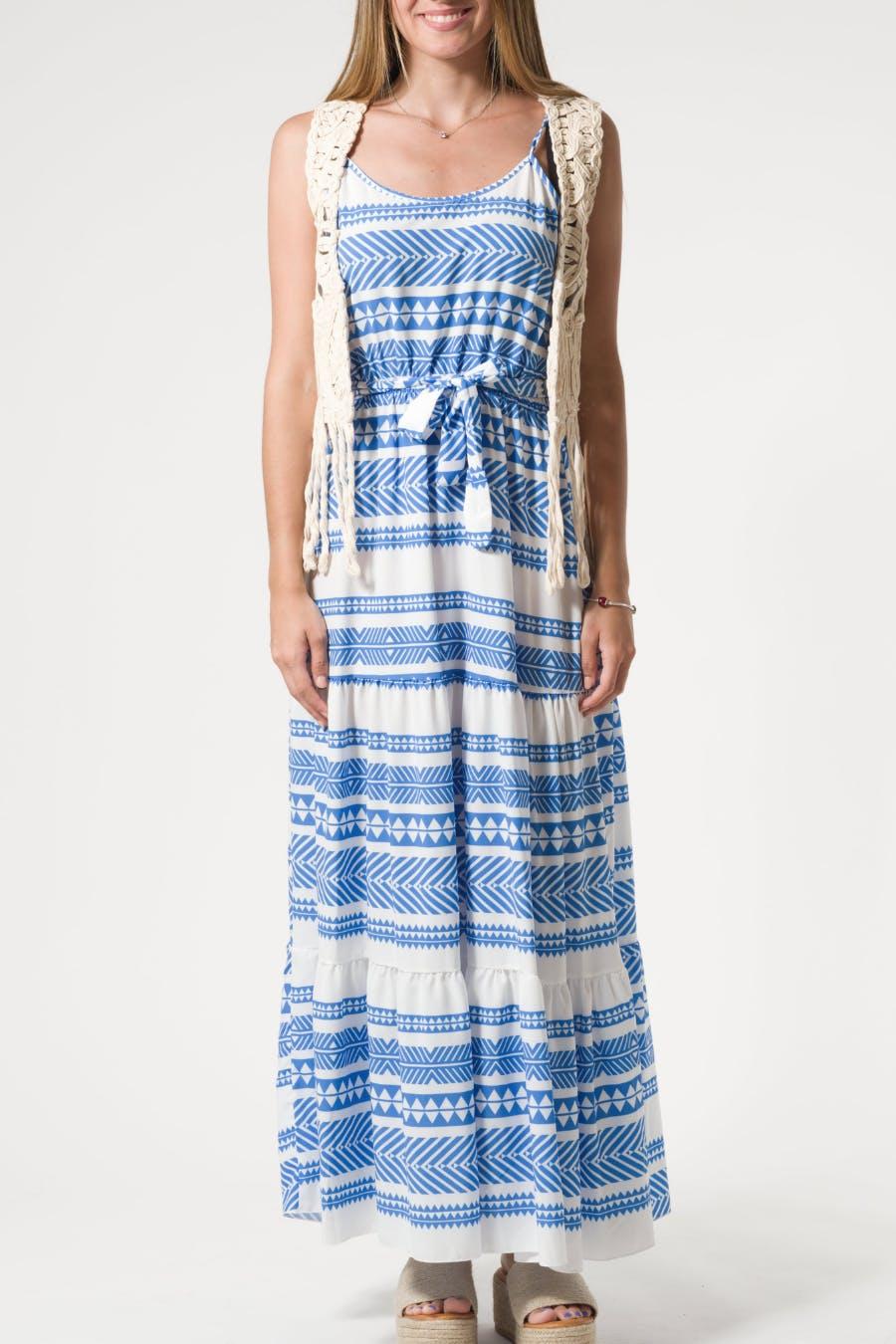Vestido rayas azul klein