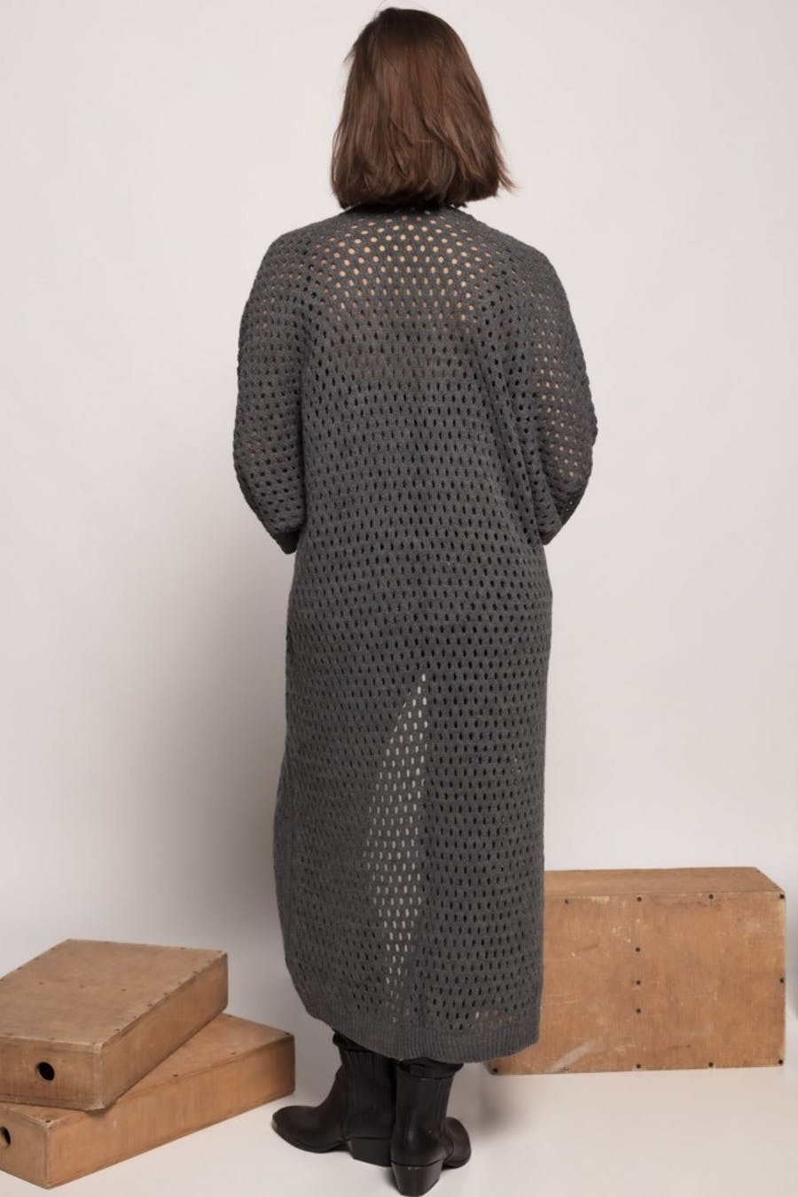 Kimono massima grazia largo calados Gris