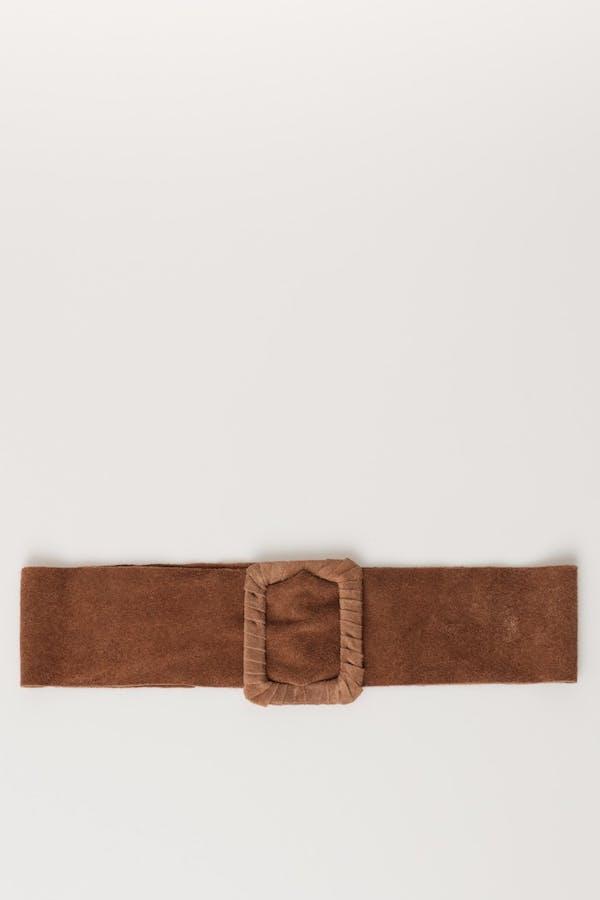 Cinturón massima grazia piel ante Camel