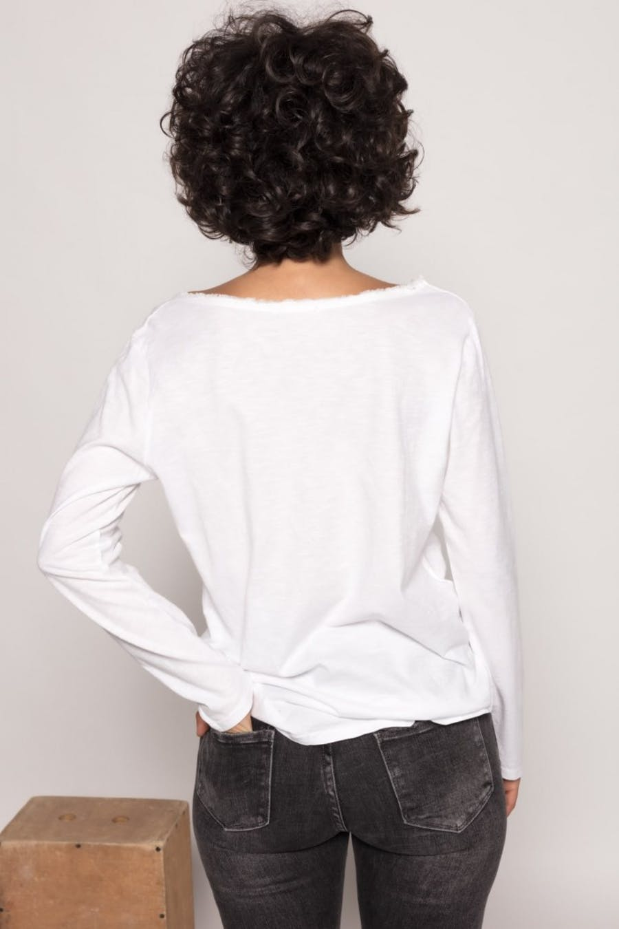 Camiseta massima grazia lavado Blanco