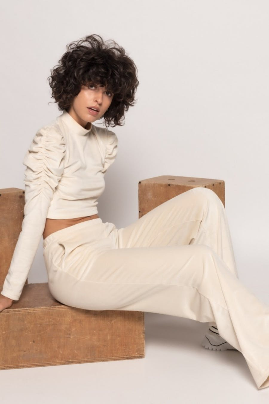 Pantalón Cassual textura Beige