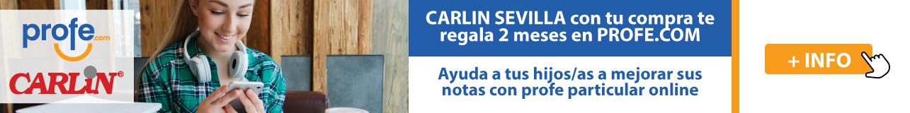 Carlin Sevilla con tu compra te regala 2 meses en profe.com