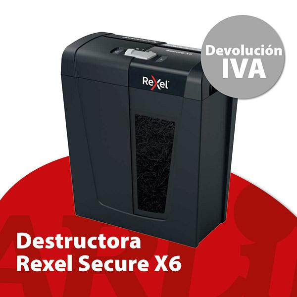 Destructora Rexel Secure X6